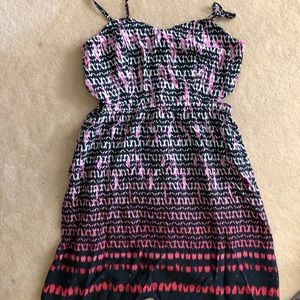 Summer dress with cut outs on the side